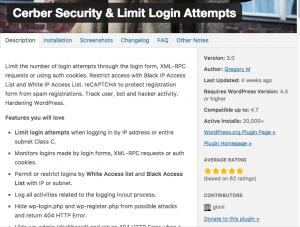 WordPress Cerber Security Plugin