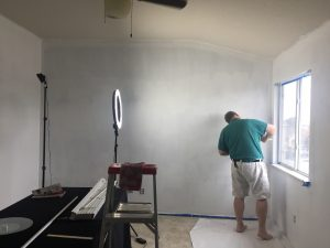Jeff working with Ultra White Paint