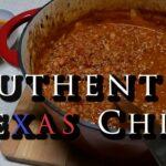 A 100% Genuine Authentic Texas Chili Recipe